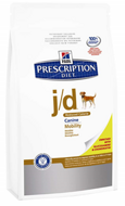 Hills Prescription Diet Canine j/d Reduced Calorie Хиллс j/d для собак лечение суставных заболеваний, 12 кг