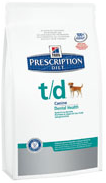 Hills Prescription Diet Canine t/d Хиллс t/d для собак поддержание гигиены полости рта, 1,5 кг