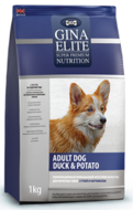 Gina Elite Adult Dog Duck & Potato Джина для собак утка картофель, 3 кг