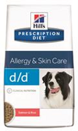 Hills Prescription Diet Canine d/d Salmon & Rice Хиллс d/d для собак лечениe пищевых аллергий, панкреатитов с лососем и рисом, 2 кг
