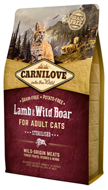 Carnilove Lamb & Wild Boar for Adult Cats – Sterilised для кастрир.котов, ягненок и дик.кабан, 0,4 кг (512324)