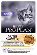 Pro Plan Nutrisavour Junior Cat Про План для котят с курицей желе, пауч 85 г