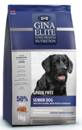 Gina Elite Grain Free Senior Dog Trout with Salmon, Sweet Potato & Asparagus Джина для пожилых собак форель лосось батат и спаржа беззерновой, 1 кг