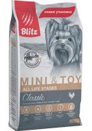 Blitz Classic Adult Mini & Toy Breeds Блиц для собак миниатюрных и мелких пород, 7 кг