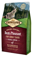 Carnilove Duck & Pheasant for Adult Cats – Hairball Control для кошек, утка и фазан, 0,4 кг (512355)