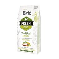 Brit Fresh Active Run & Work Duck Millet Брит Фреш для активных собак утка пшено, 12 кг (530816)