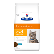 Hill's PD Feline c/d Multicare Urinary Care Хиллс для кошек при профилактике цистита и МКБ с рыбой, 1,5 кг (9184U)