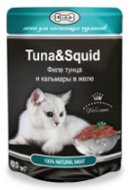 Gina Tuna & Squid Джина для кошек с тунцом и кальмаром, пауч 85 г